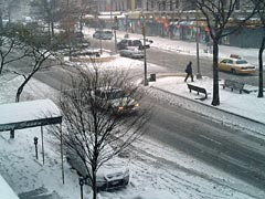 New York's First Snow, Harlem shot 1